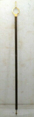 1870's Weight Driven Banjo Or Other Weight Driven Wall Clock Wooden Pendulum Rod