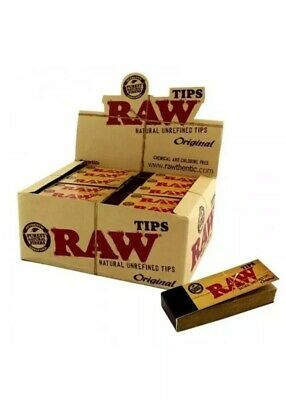 Raw Tips Natural Unrefined Original Box of 50 Tips [Full Box Loose]