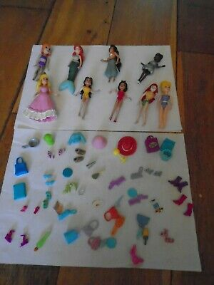 Polly Pocket dolls & accessories Snow White Ariel Belle Jasmine Sleeping Beauty