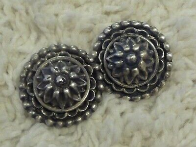 Old Solid Sterling Silver filigree Conchos