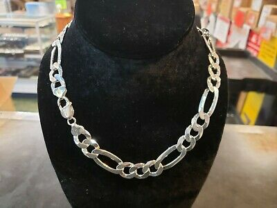 16 Inch .925 Sterling Silver 3x2mm Oval Cable Chain Necklace Assembled by Hand