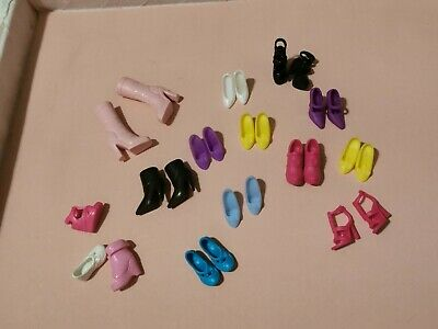 Lot Of 12 Pairs and 3 Non Paired Doll Shoes Barbie and Non Barbie Brands