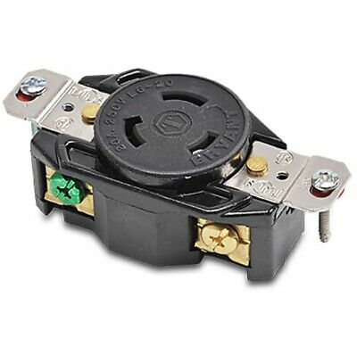 Cooper Wiring L6-20R Locking Generator Receptacle 20A 250V 2pole 3wire Grounding