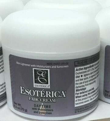 2 x Esoterica Fade Cream Daytime with Moisturizers and Sunscreen, 2.5 oz UNBOXED