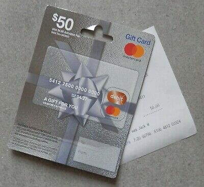 $50 Gift Card With Activation Receipt - Free USA Shipping  - USA Nationwide Use