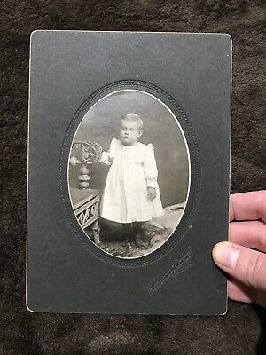 Child Girl Boy Photograph Toddler Vintage Antique Photo Picture Stoic York PA