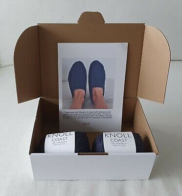 Knitting kit - Family moccasin slippers - Sherrie pattern and Knoll Coast yarn