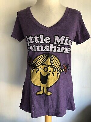 LITTLE MISS SUNSHINE (2011) Official Women's V-Neck Purple T-Shirt Size Medium