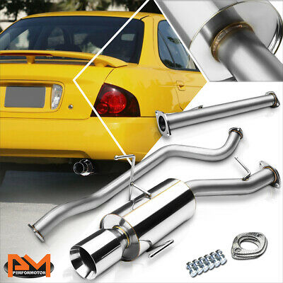 "Fit 02-06 Nissan Sentra SE-R Only 2.5/"" Catback System 4.5/"" Muffler Burned Tip"