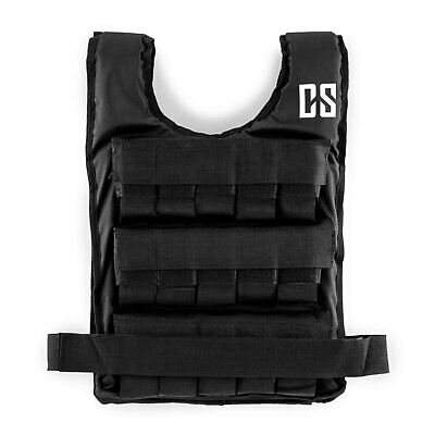 Weighted Vest Metal Weights 30 kg  Fitness Gym Training Running Adjustable Black