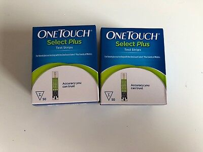 2 Cajas de un Touch Select Plus Tiras Reactivas 50 (100 Tiras en Total) 7/2020