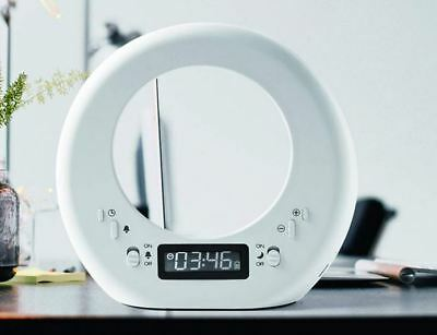 Modern Alarm Clock with Built in Light Double Sided - White