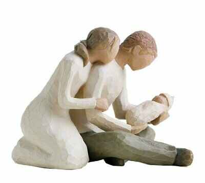 Willow Tree NEW LIFE FIGURE MOTHER FATHER BABY 2602 NEW BOXED