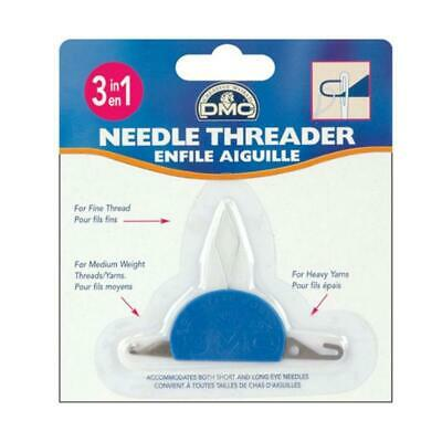 DMC - 3 IN 1 NEEDLE THREADER - Cross Stitch Embroidery Tapestry