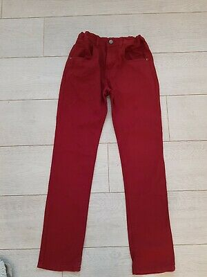 Boys Trousers Age 12 - 13 Years Slim Fit Chinos Burgundy