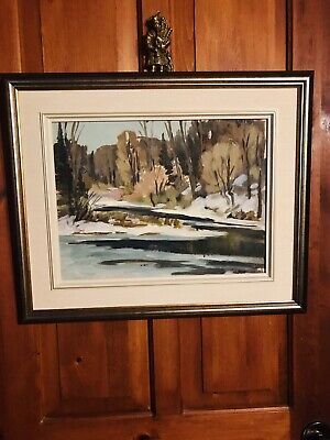 """George Turner Jr. Landscape ,Watercolour, Dated 1946, 'Caledon, Ontario', 12x16"""""""
