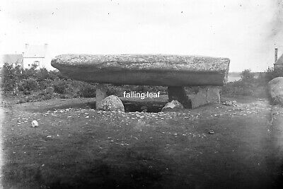 CARNAC Antique Photographic Glass Negative (Standing Stones Brittany c1910s)