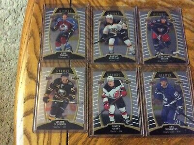 2019/20 allure hockey rookies lot of 6 -cale makar/ilya mikheyev/v.olofsson bv30