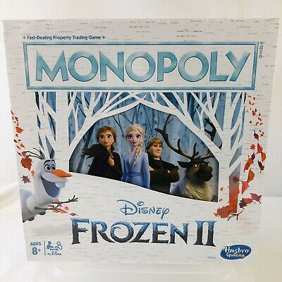 FROZEN II - New! Disney Frozen 2 Edition Monopoly Board Game - Ages 8+
