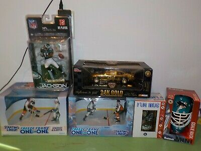 Huge Lot of 6 Collectibles NIB w/ Gold 1:24 Scale Diecast, McFarlane Nice! Q21