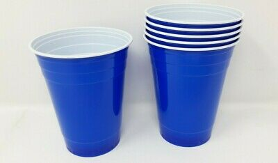 Plastic Disposable Blue Party Cups  16oz 473ml 6 12 24 48 96 Cup Parties Events