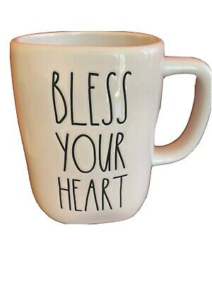 "New RAE Dunn ""BLESS YOUR HEART"" 2020 Release LL Valentine Mug"