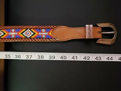 Vintage Beautiful Native American Beaded Belt. Size 36 - 40. Great Condition.