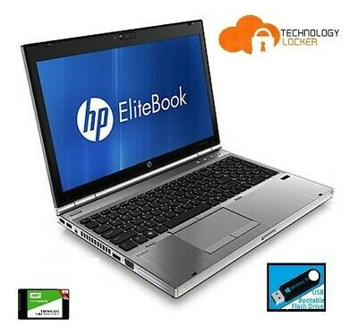 "HP EliteBook 8570p 15.6"" Laptop Intel i5-3210M @2.50Ghz 4GB RAM 750 HDD Win 10"