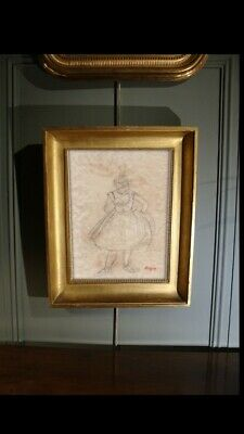 Signed Degas Collectors - Drawing ,Rare ,Original Old Paper