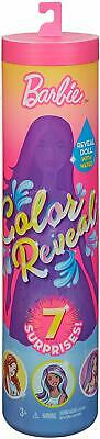 Barbie Color Reveal Doll - 7 Surprises In One Package! New