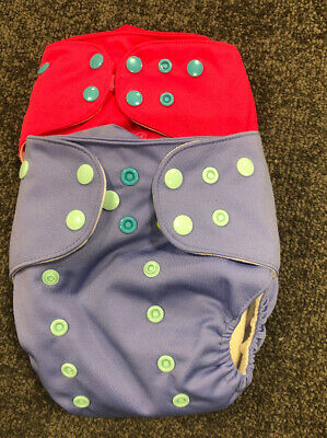 2 Lalabye Baby Cloth Diapers New