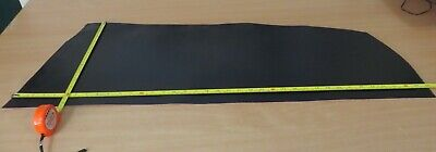 """BLACK  LEATHER   OFF CUT 38"""" X 13"""" (96 X 33cm)  2.5mm THICK - CLEARANCE"""