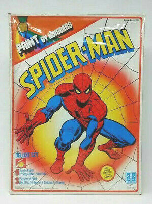 Vintage Paint by Number Spider-man Deluxe Set - Paint and Pictures 1978