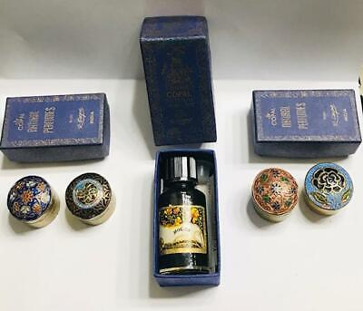 "NIB (FULL) LOT OF 3 ""R. EXPO INDIA"" Solid Perfume Compacts/Oil CARNATION/LAURIER"