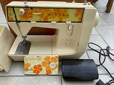Vintage Portable Singer Starlet Sewing Machine 354 from 1974 with modern UK plug