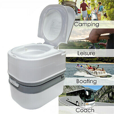 Portable Toilet 24L 6 Gallon Flush Travel Camping Outdoor/Indoor Commode Potty