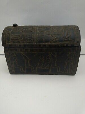 RARE ANTIQUE ANCIENT EGYPTIAN Jewelry Box Art Crafts Gos Osiris Nut 1863 Bc