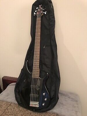 2004 Black Metallic Fender Squire Bass  5 string Indonesia W/Gigbag 1 Owner