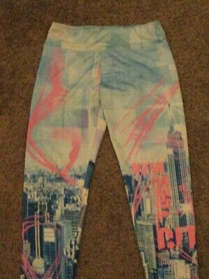 Justice  Pre Owned  Girls Size 14  New York City Leggings
