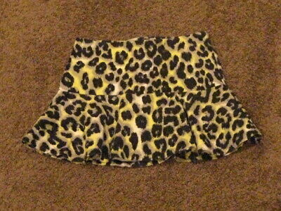Justice  Pre Owned   Girls Size 8     Black/Yellow Animal Print   Skort