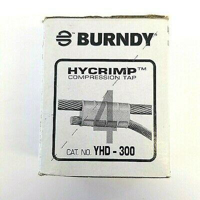 New Lot of 25 Burndy Hycrimp YHD - 300 Compression Tap Free Shipping