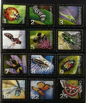 Canadian INSECT postage stamps full set MNH MINT UNUSED FULL GUM CANADA