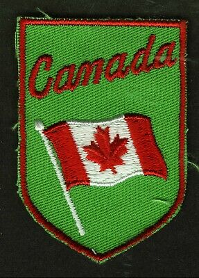 Vintage Canada Embroidered Cloth Souvenir Travel Patch
