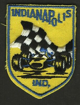 Vintage Indianpolis 500 Embroidered Cloth Souvenir Travel Patch