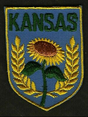 Vintage Kansas Embroidered Cloth Souvenir Travel Patch