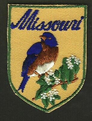 Vintage Missouri State Embroidered Cloth Souvenir Travel Patch