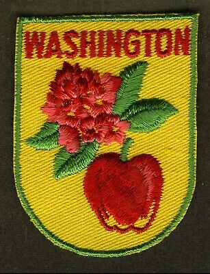 Vintage Washington State Embroidered Cloth Souvenir Travel Patch