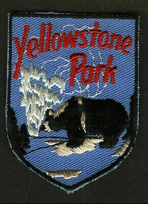 Vintage Yellowstone Park Embroidered Cloth Souvenir Travel Patch