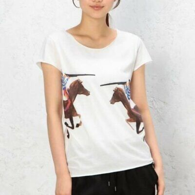 G.Kero Two Hunters Dueling Horses Gun T-Shirt Cotton Hand Drawn Rare HTF sz XS