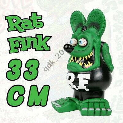 "13"" Green Black Rat Fink Action Figure Roth Ed Big Daddy Statue Model Toy"